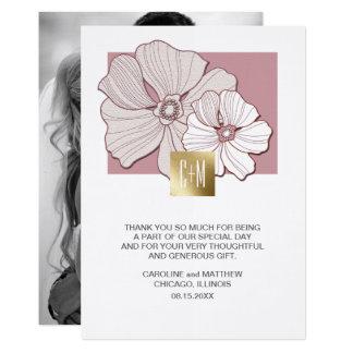 Cartes photos de coutume de Merci de mariage de