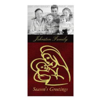 Cartes photos de Noël de Jésus de bébé Photocartes