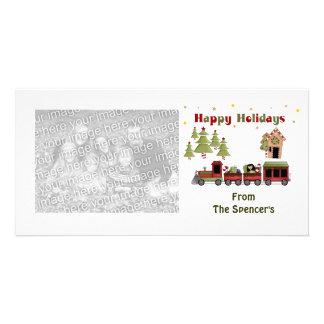 Cartes photos de vacances de train de Noël Photocarte Personnalisée