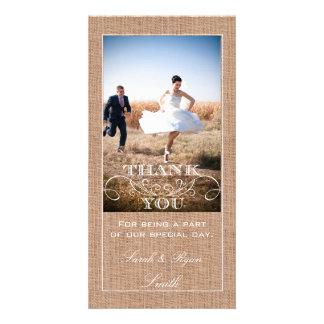 Cartes photos rustiques de Merci de mariage d'impr Photocartes