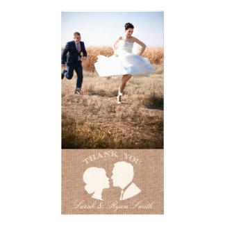 Cartes photos rustiques de Merci de mariage d'impr Cartes De Vœux Avec Photo