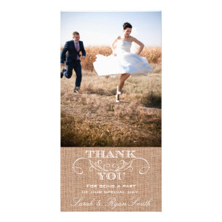 Cartes photos rustiques de Merci de mariage d'impr Modèle Pour Photocarte