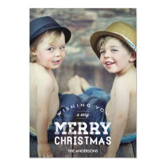 Cartes photos vintages de vacances de Noël Carton D'invitation 12,7 Cm X 17,78 Cm