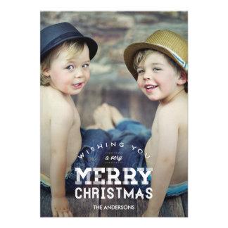Cartes photos vintages de vacances de Noël Bristols Personnalisés