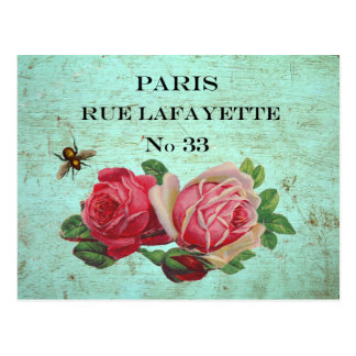 Cartes postales vintages d'adresse de Paris