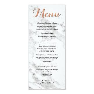 Cartes roses de réception de mariage de menu d'or