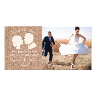 Cartes rustiques de Merci de photo de mariage d'im Photocarte Customisée