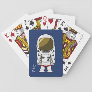 Cartoon-Astronauten-Spielkarten Spielkarten