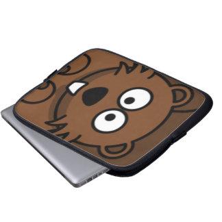 Cartoon-Biber-Gesicht Laptop Schutzhülle