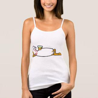 Cartoon-Bowlings-Button-Shirt für Dame Bowlers Tank Top