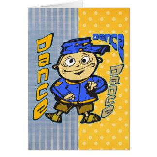 Cartoon-Charakter-Tanz Karte
