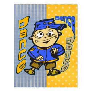 Cartoon-Charakter-Tanz Postkarte