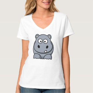 Cartoon-Flusspferd T-Shirt