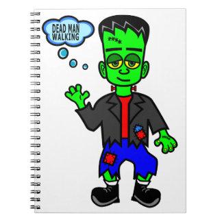 Cartoon Frankensteins Monster-Junge Spiral Notizblock