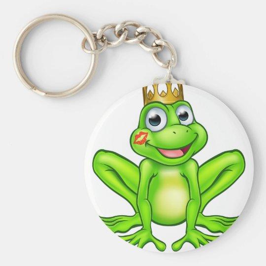 Cartoon-Frosch-Prinz Kiss Schlüsselanhänger