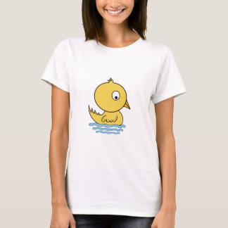 Cartoon-gelbe Ente T-Shirt