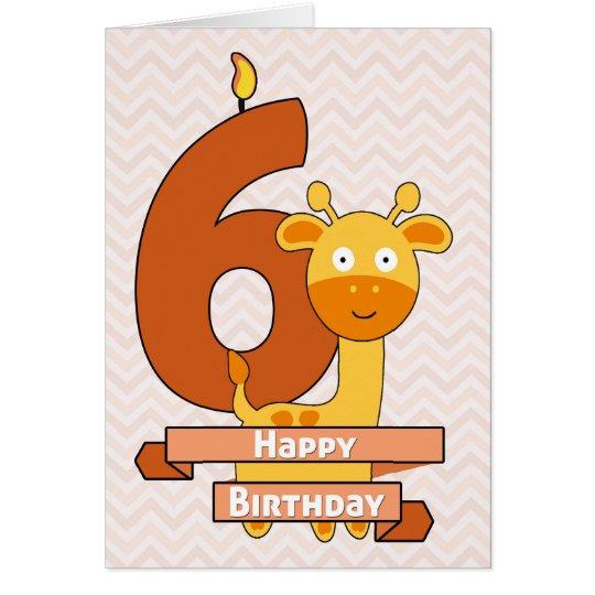 Cartoon-Giraffe für den Geburtstag des Kindes Grußkarte
