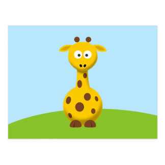 Cartoon-Giraffe Postkarte