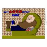 Cartoon-glückliche sechzigste Geburtstags-Vati-Kar Karte