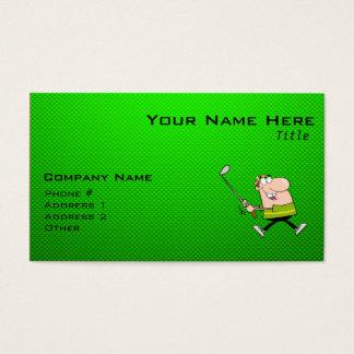 Cartoon-Golfspieler; Grün Visitenkarten