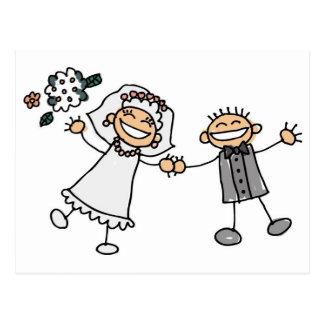 Cartoon-Hochzeit Postkarte