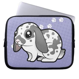 Cartoon-Kaninchen (glattes Haar des schlaffen Laptop Computer Schutzhülle