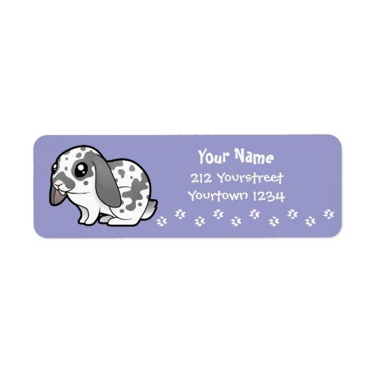 Cartoon-Kaninchen (glattes Haar des schlaffen Rücksendeetiketten