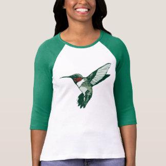 Cartoon-karminroter Throated Kolibri-T - Shirt