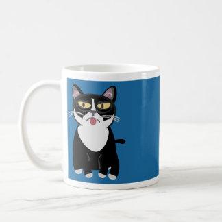Cartoon-Katze addieren etwas Text Kaffeetasse