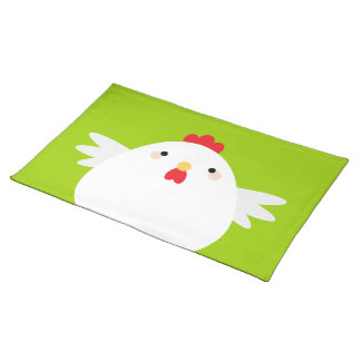 Cartoon Kawaii Huhn Stofftischset