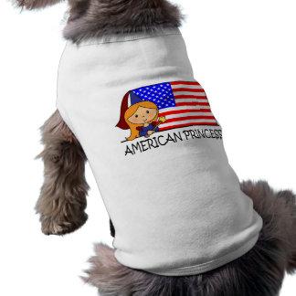 Cartoon-Klipp-Kunst-niedliche amerikanische T-Shirt