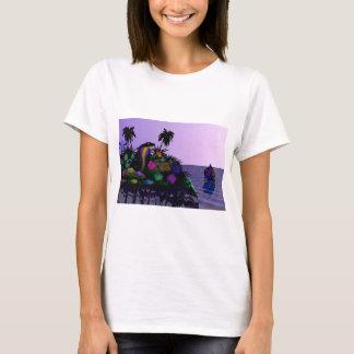 Cartoon-Kobra auf Insel T-Shirt