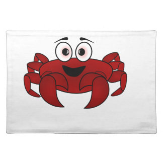 Cartoon-Krabbe Tischset