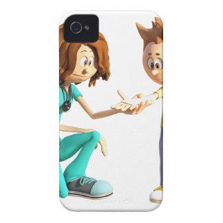 Cartoon-Krankenschwester und kleiner Junge iPhone 4 Case-Mate Hülle