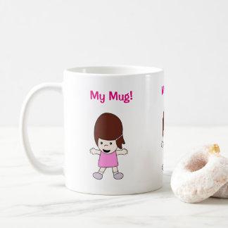 """Cartoon Lesley """"meine Tasse!"""" Entwurf Tasse"""