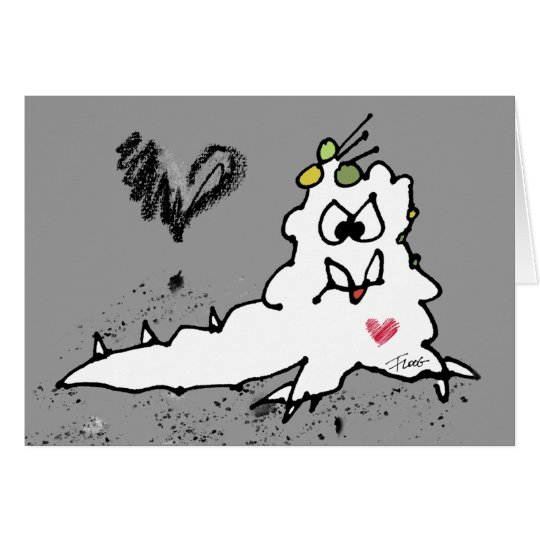Cartoon-Liebe-Schnecken-Monster Grußkarte