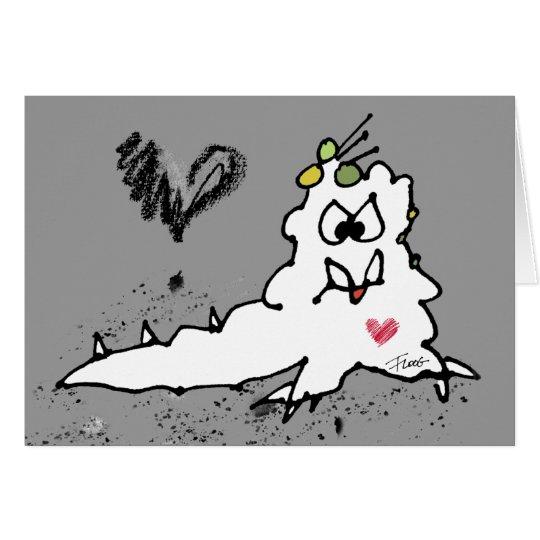 Cartoon-Liebe-Schnecken-Monster Karte