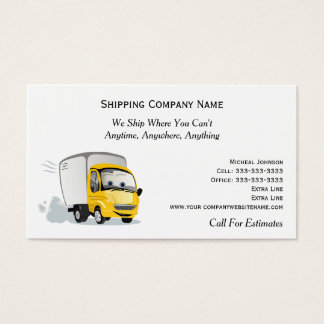 Cartoon-LKW in Motion Shipping Moving Company Visitenkarte