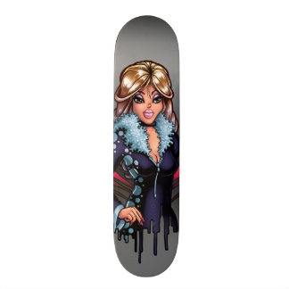 Cartoon-Mädchen 21,6 Cm Skateboard Deck