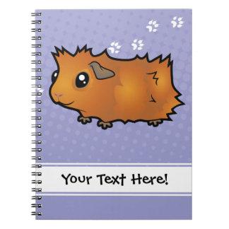 Cartoon-Meerschweinchen (schäbig) Spiral Notizbücher