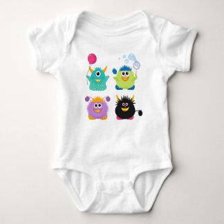 Cartoon-Monster Baby Strampler