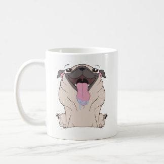 Cartoon-Mops-Hundekaffee-Tasse Kaffeetasse