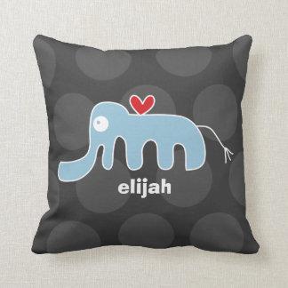 Cartoon-niedliche Elefant-Liebe-wunderliches Kissen