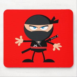 Cartoon Ninja Krieger-Rot Mauspad