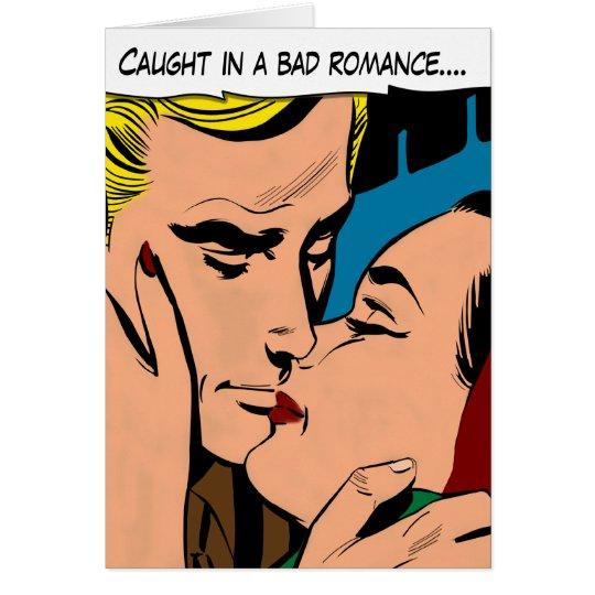 Cartoon-Paare, die Karte des Valentines
