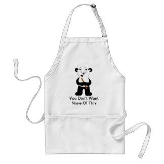 Cartoon-polarer Bär, der Bambus isst Schürze