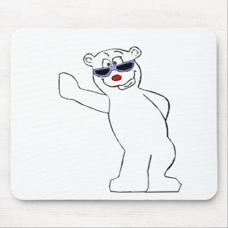 Cartoon-polarer Bär mit coolen Schatten Mousepad