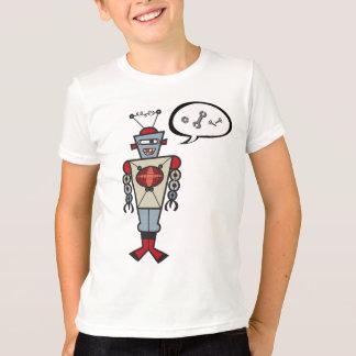 Cartoon-Retro Roboter-niedliches T-Shirt