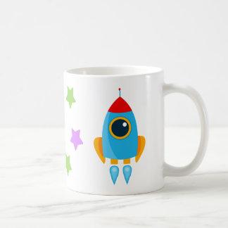Cartoon Rocket Kaffeetasse