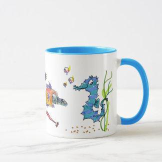 Cartoon-Seepferd niedlich Tasse